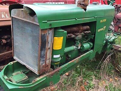 Oliver Super 77 Tractor Good Ol Engine Motor Radiator Assembly W Cap