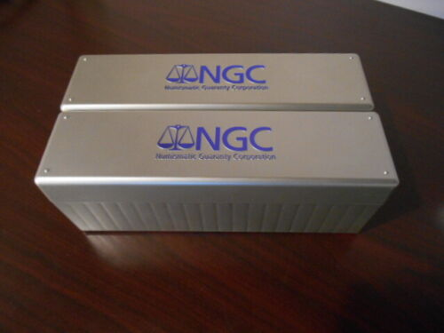 2 Lightly Used 20 Slot Silver NGC Storage Boxes