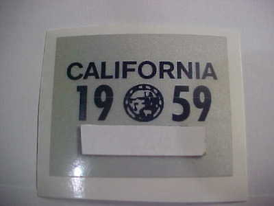 1959 california license plate registration yom sticker for the 1956 plates