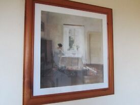 PINE FRAMED PICTURE