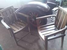 2x Outdoor Timber Wooden Chairs Garden Decking Patio Seating Seat Merrylands Parramatta Area Preview