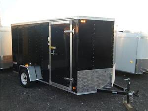 6X12 V-Nose Cargo Trailer with Barn Doors