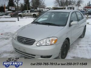 2004 Toyota Corolla LE LOCAL 1 OWNER-2 SETS TIRES ON RIMS!