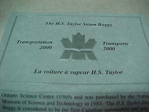 Canada 2000 $20 Transportaion H.S. Taylor Steam Buggy Hologram!! London Ontario image 3