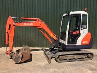 "KUBOTA KX71-3 ""ONLY 1362 HOURS"" 2.8 TONNE HITCH & 3 BUCKET MINI DIGGER EXCAVATOR"