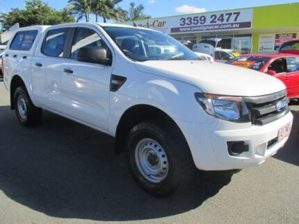 2012 Ford Ranger PX XL Double Cab White 6 Speed Manual Utility Kedron Brisbane North East Preview