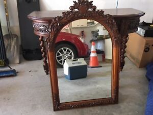 Antique Consol table and mirror