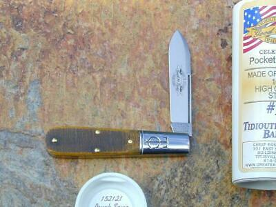 GREAT EASTERN GEC TIDIOUTE ROUGH SAWN OSAGE WOOD BARLOW KNIFE RARE MIT 152121