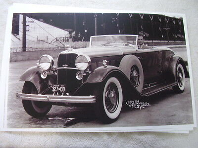 1932 LINCOLN ROADSTER EDSEL FORD AT THE  WHEEL  11 X 17  PHOTO  PICTURE
