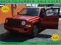 2009 Jeep Patriot Sport 4WD, $38/Weekly, NO PAYMENTS UNTIL 2016