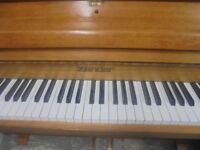 upright piano by zender quality make