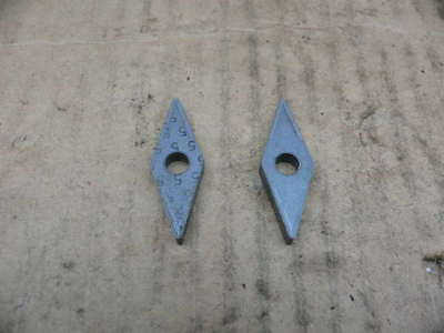 Carbide Inserts Diamond 12 In Ic. Machinist Tool Lot Kennametal Sandvic