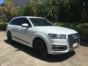 2017 Audi Q7 4M MY18 3.0 TDI Quattro (160kW) White 8 Speed Automatic Tiptronic Wagon Bowen Hills Brisbane North East Preview