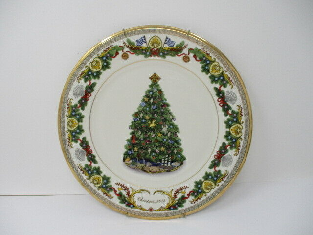 Lenox 2012 Greece Annual Trees Around The World Collector Plate