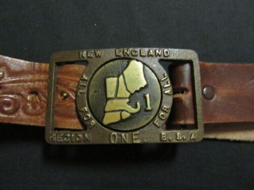New England Region One Max Silber Belt Buckle    TH4