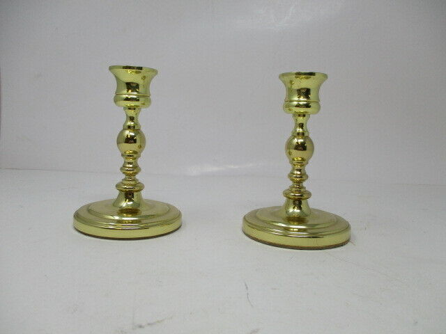 "2 Baldwin Brass 4.5"" Candlestick Candle Holder USA Made"