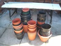 Approx 120 used Plant Pots
