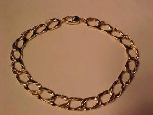 #3291 10k Yellow Gold man`s bracelet-Reversible Free shipping to the Continental USA or Canada only by Canada Post