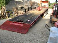 Oldbury Tandem Axle Trailer Front Mounted Electric Winch, Steel Suspension