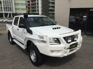 2013 Toyota Hilux KUN26R MY12 SR (4x4) White 4 Speed Automatic Dual Cab Pick-up North Strathfield Canada Bay Area Preview