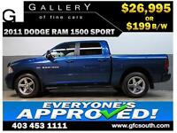2011 DODGE RAM SPORT CREW **EVERYONE APPROVED** $0 DOWN $199/BW!