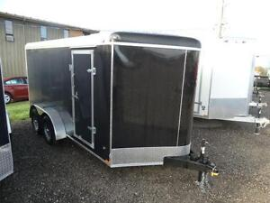 7x14 Black Enclosed Cargo Trailer with Ramp Kitchener / Waterloo Kitchener Area image 3