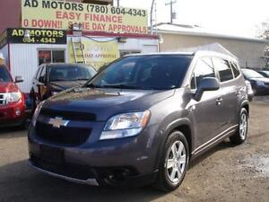 2012 CHEVROLET ORLANDO LT AUTO 7 SEATS 112K-100% APPROVE FINANCE