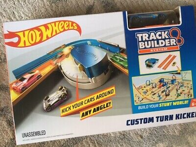 Hot Wheels Track Builder Playset Raceway Stunt Bridge Custom Turn Kicker NEW