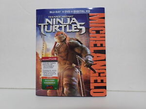 tmnt exclusive slip case cover blue ray dvd  NO movie
