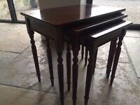 Mahogany Inlaid Nest of Tables