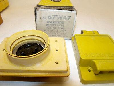 Daniel Woodhead 67w47 20a 125v Nema Watertite Wreceptacle Yellow Oil Proof