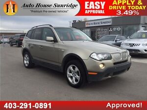 2007 BMW X3 3.0si LEATHER, ROOF, AWD EVERYONE APPROVED