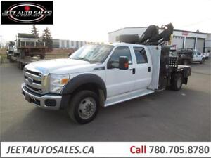 2015 Ford Super Duty F-550 DRW XLT with Hiab 077 CLX Boom Crane