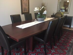 Boardroom table, boat shaped 10 x 4 feet
