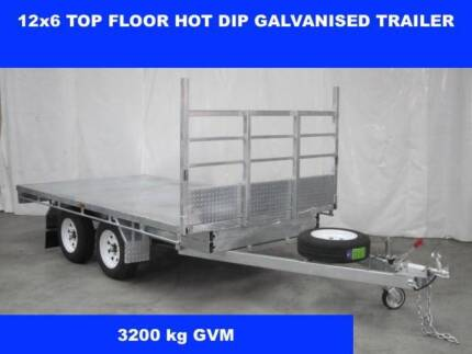 12X6 FLAT TOP FLOOR TRAILER 3300KG GVM ON SALE NOW