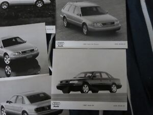 Rare 1997 Audi Car full line Press Kit Brochure Photos A8 S6 A4 Cambridge Kitchener Area image 4