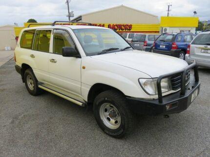 1999 Toyota Landcruiser 100 Series Diesel White 5 Speed Manual Wagon