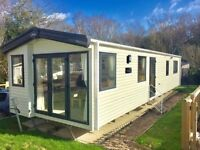 Brand New Static caravan for sale, Private fenced garden,corner plot,driveway, piped gas, hastings