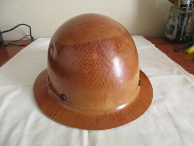Msa Skullgard Full Brim Hard Hat With Staz On Suspension - Natural Tan Brand New