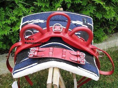 Voltigiergurt Shetty rot Reithilfe Leder Voltigieren 115- 135 cm