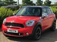 MINI COUNTRYMAN 2.0 COOPER SD ALL4 5d 141 BHP (red) 2011