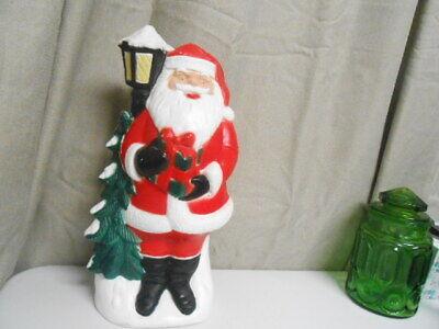 "2004 Christmas 18"" TPI Santa with Tree & Street Light Blow Mold Yard Decoration"