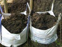 GARDEN COMPOST- GRASS & LEAF WELL ROTTED, 85 X 85 X 85CM BULK BAG