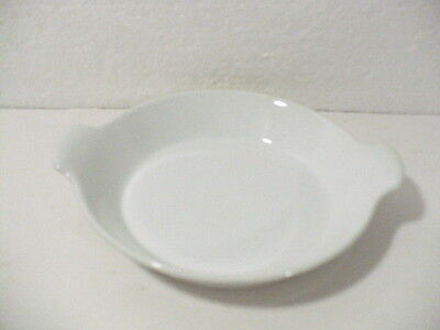 """Arabia Finland White Open Skillet 5-3/4"""" with two handles"""