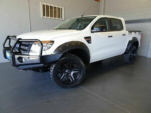 2013 Ford Ranger PX XL 3.2 (4x4) White 6 Speed Automatic Dual Cab Utility Woodridge Logan Area Preview