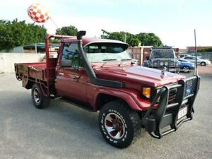 1996 Toyota Landcruiser HZJ75RP (4x4) Red 5 Speed Manual Cab Chassis Townsville Townsville City Preview
