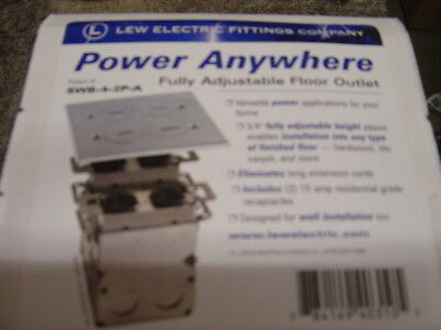 LEW ELECTRIC SWB-4-2P-A FLOOR BOX & S.S  COVER  2 GANG