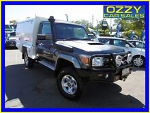 2010 Toyota Landcruiser VDJ79R 09 Upgrade GXL (4x4) Grey 5 Speed Manual Cab Chassis Penrith Penrith Area Preview