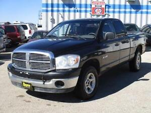 2008 DODGE RAM 1500 SLT 4X4 QUAD CAB, SAFETY AND WARRANTY $8,950