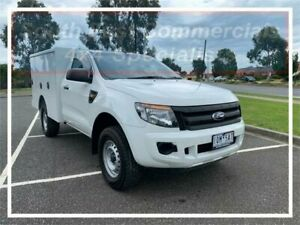 2014 Ford Ranger PX XL White 6 Speed Manual Cab Chassis Pakenham Cardinia Area Preview